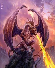 Dragon on a Rock by Jan Patrik Krasny