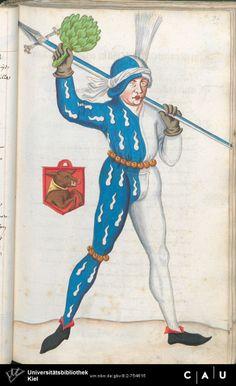 Nürnberger Schembart-Buch Erscheinungsjahr: 16XX  Cod. ms. KB 395  Folio 98