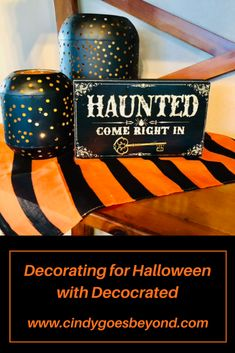 Decorating for Halloween with Decocrated Curated Home was a fun way to refresh my fall decor. Check out my first ever Halloween vignettes, using items from the Decocrated Halloween add on box. #cindygoesbeyond #decocrated #decoratingforhalloween Small Bookshelf, Tabletop Signs, Large Lanterns, Holiday Recipes, Fall Recipes, Black Vase, Holiday Crafts For Kids, Potion Bottle, Halloween Birthday