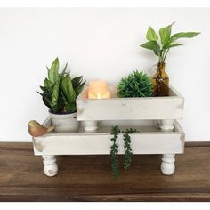 """Rosalind Wheeler These tray risers are ideal to load it up with your most special finds and seasonal decor. Tiered trays made of solid wood and nice white finishing. 