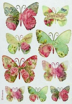 Rice Paper for Decoupage Decopatch Scrapbook Craft Sheet Greetings Butterfly