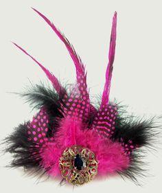1 Fascinator Black Pink Feathers Hair Clip Fashion Wedding Function Accessory  #SouthernSandStarOriginal #SpecialOccasion