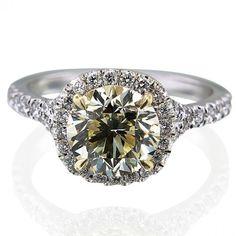 2.01ct Round Yellow Diamond In Custom Mounting