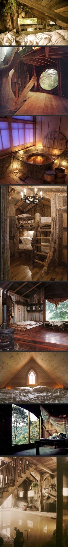 Woodland home--this is kinda cool, if it had more room I might want to live in it...