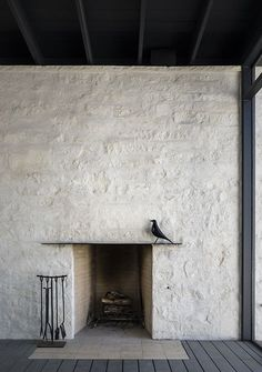 fireplace and the eames bird... 1 Hillside fireplace detail | Tim Cuppett Architects 1 Hillside Shou Sugi Ban