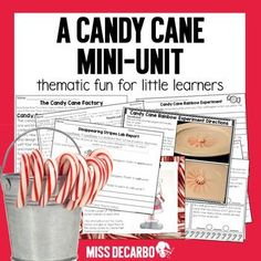 Just Add Candy Canes! Put some FUN into your holiday lesson plans! This integrated mini unit contains science experiments, writing activities, research, math, word work, text evidence reading passages, and more! All of these activities revolve around the sweet, festive tradition of candy canes!! Pe...
