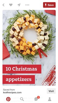 10 Christmas Appetizer Recipes – Planning the Christmas dinner menu? , 10 Christmas Appetizer Recipes – Planning the Christmas dinner menu? Start the festivities deliciously with a great selection of tasty Christmas appetizers. Christmas Dinner Menu, Christmas Entertaining, Christmas Party Food, Xmas Food, Christmas Appetizers, Christmas Cooking, Christmas Goodies, Christmas Cheese, Christmas Apps