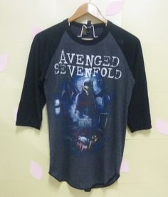 Avengered Sevenfold rock t shirt hard rock 3/4 sleeve shirt by CuteClassic, $16.00