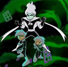 Dani, Dan and Danny Phantom by ~AshAngela