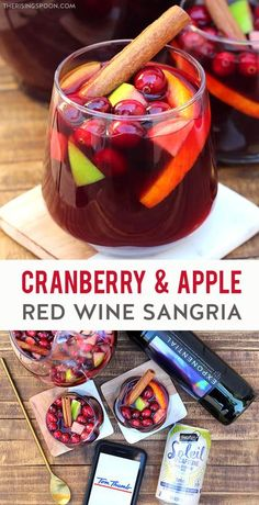 AD: Need an easy & festive cocktail for holiday celebrations like Thanksgiving, Christmas & New Year's Eve? Fix a pitcher of cranberry & apple sangria, then let it infuse in the fridge for a few hours. It's packed with fruity red wine, apple cider, cranberry juice, fresh apples, cranberries, orange, cinnamon, a bit of vodka or brandy & sparkling water or dry sparkling white wine. Grab all the ingredients you need to make this from #TomThumb and remember, always drink responsibly! #ad21+ Fruity Red Wine, Red Wine Sangria, Apple Sangria, Holiday Sangria, Festive Cocktails, Real Food Recipes, Yummy Food, Drink Recipes, Holiday Recipes