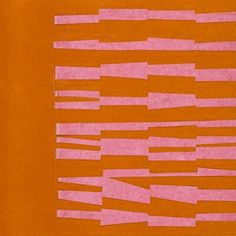 Pink and Orange from the series 'Line Form Color' by #EllsworthKelly 1951