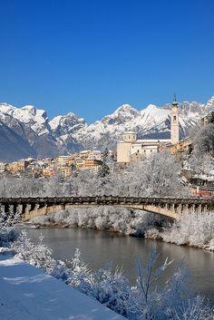 Belluno sotto la neve by Alessio x79x, Belluno, province of Belluno, Veneto, Italy