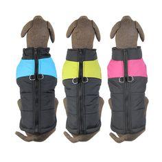 2017 Hot Sale Dog clothes Coat Pet clothes Jacket Big size dog waterproof ski Winter vest Pet products 3 color Available #Affiliate