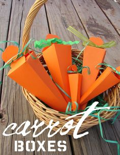 girl and a glue gun: Carrot Boxes ~ Pattern & Tutorial More