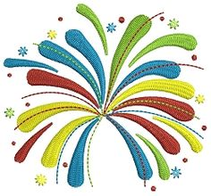 Fireworks - 2 Sizes! | What's New | Machine Embroidery Designs | SWAKembroidery.com Embroidalot