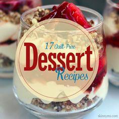 17 Guilt Free Dessert Recipes