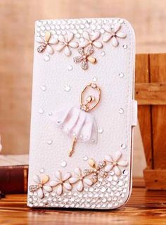 Handmade Luxury Bling Diamond Leather Wallet Phone Case Flip Cover Stand For iphone Bling Phone Cases, Iphone Cases, Iphone 6, Bling Jewelry, Silver Jewelry, Leather Wallet, Pu Leather, Crystal Rhinestone, Fashion Accessories