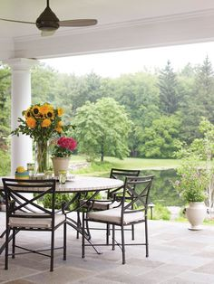 Country Club Homes Shingle Style Porch Outdoor Rooms, Outdoor Living, Outdoor Furniture Sets, Outdoor Decor, Iron Furniture, New England Homes, Exterior, Building A New Home, House And Home Magazine