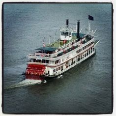 A steamboat on The Mississippi River
