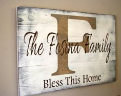 Personalized Name Sign For Wedding Gift Housewarming Bridal Shower Custom Name Sign Pallet Wood Sign Shabby Chic Wall Decor White and Tan