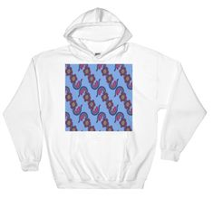 Buy unique print-on-demand products from independent artists worldwide or sell your own designs at the drop of an image! Hoodies, Sweatshirts, Online Printing, How To Make, Pink, Blue, Stuff To Buy, Design, Fashion