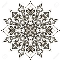 Mandala. Round Ornament Pattern. Vintage Decorative Elements... Royalty Free…