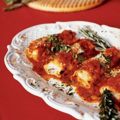 Ricotta and Meat Cannelloni