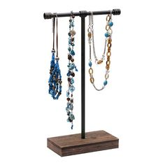Industrial Metal and Wood Tall T-Stand Necklace Display Necklace Display, Jewellery Display, Jewelry Armoire, Antique Jewelry, Fabric Display, Hanging Necklaces, Rio Grande Jewelry, Bold Jewelry, Decorative Metal