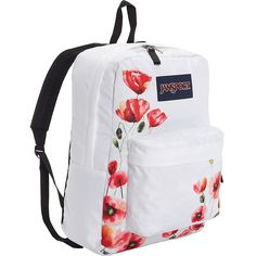 JanSport Superbreak Backpack- Discontinued Colors - Multi California... ($36) ❤ liked on Polyvore featuring bags, backpacks, white, utility backpack, handle bag, pocket bag, padded backpack and jansport backpack