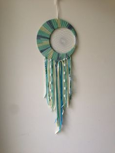 Large Sage Green and Cream Crescent by dreamalittledreamcat, $40.00