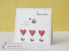 Bee Mine – Clean and Simple Card - Creative Scrapbooking