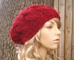Knitting Pattern - Knit Hat Knitting Pattern PDF for The Cable Beret Hat - Fall Fashion Autumn Fashion Autumn Accessories.