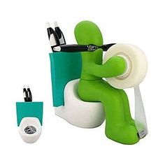 This started off being just a gag gift for a co-worker but everyone is wanting a butt station! A fun art deco desk accessory that includes a pen holder, tape dispenser, memo/card holder, paper clip holder and just a great conversation piece all in one! Price: $15.75