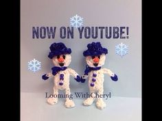 Rainbow Loom Snowman - Looming WithCheryl. Christmas / Xmas/ winter. Tutorial is Now on YouTube! charms / figures / gomitas / gomas. Please Subscribe ❤️❤ m.youtube.com/user/LoomingWithCheryl