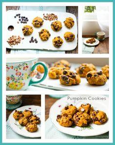 Pumpkin Cookies. Chocolate. Oats.
