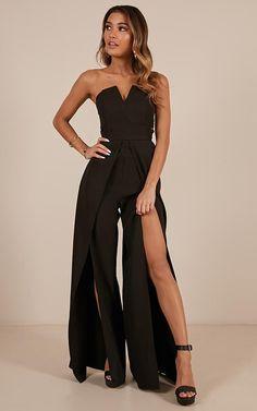 Fancy jumpsuit - Just Like Fire Jumpsuit In Black Produced – Fancy jumpsuit Prom Jumpsuit, Formal Jumpsuit, Prom Outfits, Night Outfits, Fashion Outfits, Gothic Fashion, Elegantes Outfit Frau, Just Like Fire, Evening Dresses