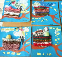 great way to take a weaving and incorporate into a collage!