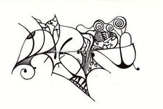 Check out Black and White Abstract Art Print of Original Drawing Image 41 / tattoo art on tribalink