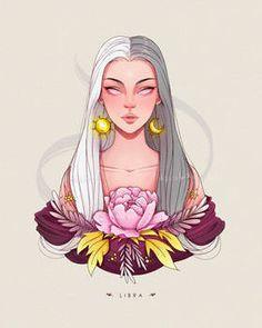 Anime Zodiac, Zodiac Art, Zodiac Signs, 12 Zodiac, Aries Aesthetic, Signo Libra, Cute Girl Drawing, Scenery Wallpaper, Pretty Art