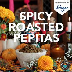 Plain pumpkin seeds get a kick from chili powder, making them a delightfully crunchy and addictive appetizer for your Día de Muertos celebration. This easy roasted pepitas recipe is sure to become a fall favorite! #spicy #pumpkin #pepitas #Mexican #Mexicanrecipe | muybuenocookbook.com @muybueno