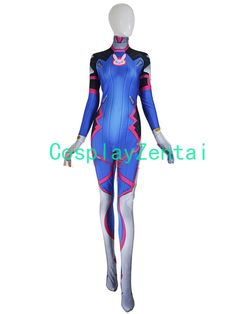 d.va Video Game cosplay costume Spandex Hot Sale Freeshipping Lady/Female Zentai Suit