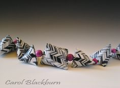 Necklace of Hollow Tetra Beads polymer clay by Carol Blackburn  | Flickr - Photo Sharing!