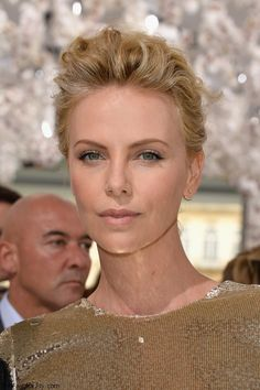 Charlize Theron at Christian Dior fall 2014 Couture fashion show at Paris HC fashion week.