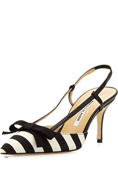 Manolo Blahnik ● Striped Halter Pump                                                                                                                                                      More