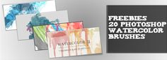 watercolor brushes1 Freebies: 20 Watercolor Photoshop Brushes
