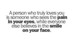 Pain in your eyes...smile on your face.