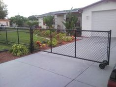 Image result for chain link driveway gates