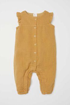 Cotton Jumpsuit | Dark mustard yellow | KIDS | H&M US