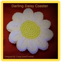 Looking for your next project? You're going to love Darling Daisy Coaster by designer Tonya Craig. - via @Craftsy