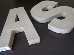 letras forradas de tela